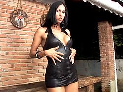 Lorena gatelly masturbating. Seductive tranny Lorena Gatelly teasing and playing
